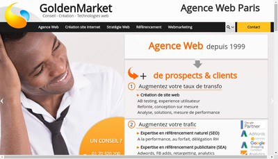 Site internet de Goldenmarket