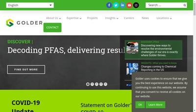 Site internet de Golder Associates