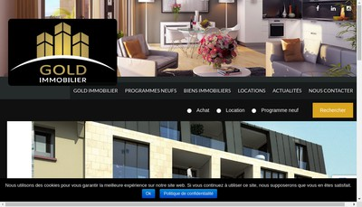 Site internet de Gold Immobilier