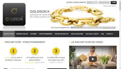 Site internet de Goldson