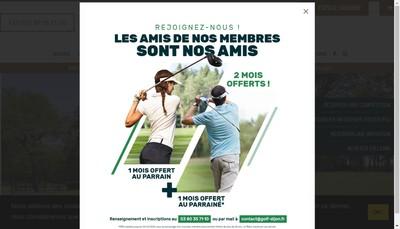 Site internet de Golf de Bourgogne