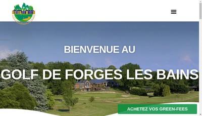 Site internet de SARL du Golf de Forges les Bains