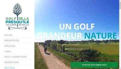 Site internet de Golf de la Presqu'Ile