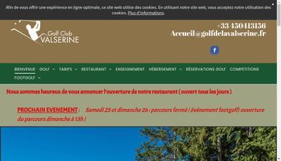 Site internet de Golf de la Valserine