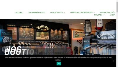 Site internet de Golf Distribution France