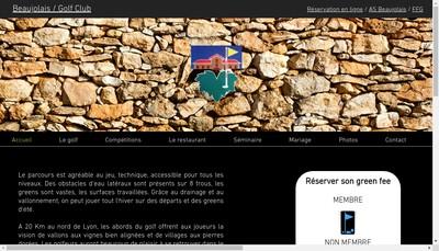 Site internet de Golf du Beaujolais