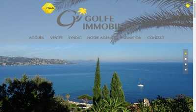 Site internet de Golf Immobilier Maxime Secretariat