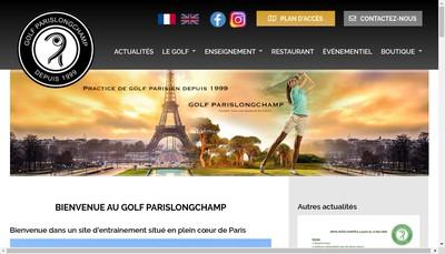 Site internet de Golfparislongchamp