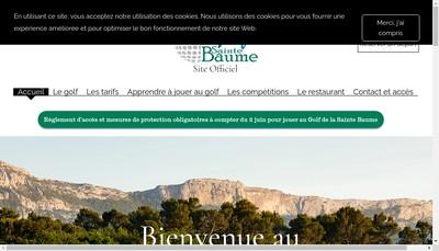Site internet de Golf Resorts Provence Sainte Baume