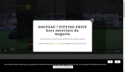 Site internet de Golf Spirit