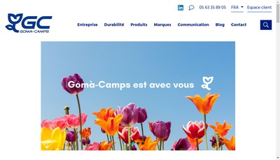 Site internet de Goma Camps France