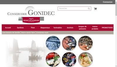 Site internet de Conserves Gonidec