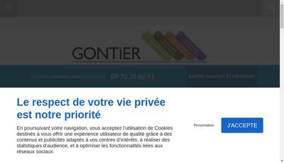 Site internet de Gontier
