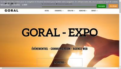 Site internet de SARL Goral