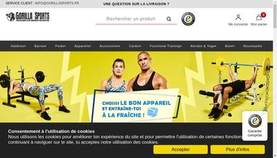 Site internet de Gorilla Sports France