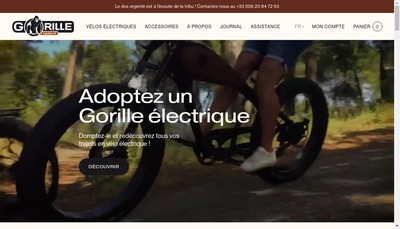 Site internet de Gorille Cycles