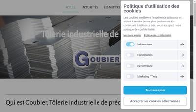 Site internet de Etablissements Goubier