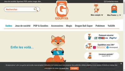 Site internet de Goupiya