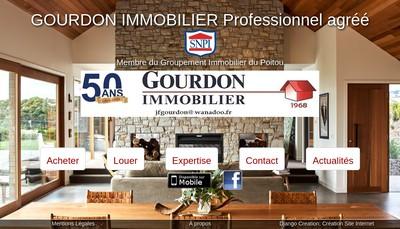 Site internet de Gourdon Immobilier