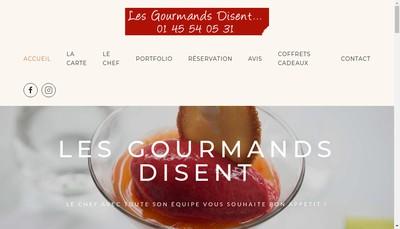 Site internet de Gourmands Disent