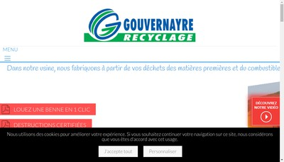 Site internet de Societe Roger Gouvernayre et Fils