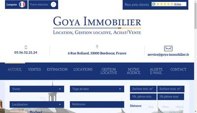 Site internet de Goya Immobilier