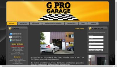 Site internet de G Pro Garage - G Pro Pieces