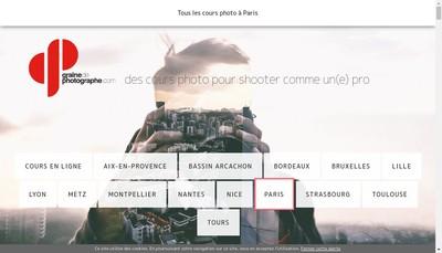 Site internet de Graine de Photographe