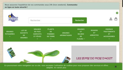 Site internet de Les Graines Bocquet