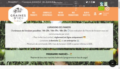 Site internet de Graines d'Ici
