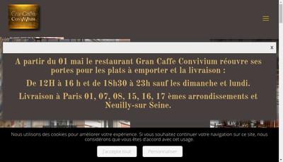 Site internet de Gran Caffe
