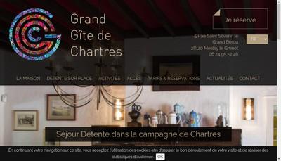Site internet de Grand Gite de Chartres