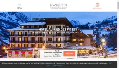 Site internet de Grand Hotel de Valloire et du Galibier