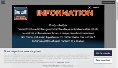 Site internet de Horizon Grand Ecran