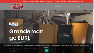 Site internet de EURL Grandemange