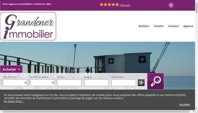 Site internet de Grandener Immobilier