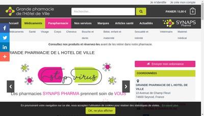 Site internet de Pharmacie Charriere