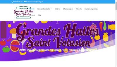 Site internet de Les Grandes Halles de St Volusien
