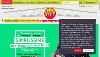 Site internet de Grand Frais