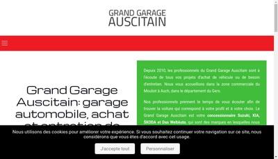 Site internet de Grand Garage Auscitain