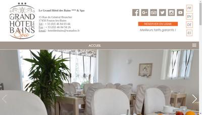 Site internet de GRAND HOTEL DES BAINS