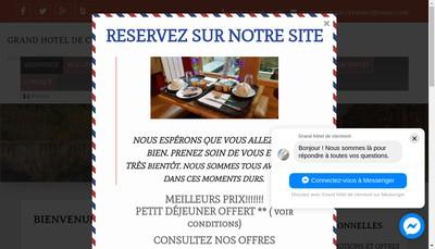 Site internet de Le Grand Hotel de Clermont