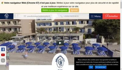 Site internet de Societe du Grand Hotel Moriaz