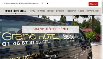 Site internet de Grand Hotel Senia Salons d'Orly