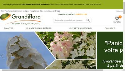 Site internet de Grandiflora