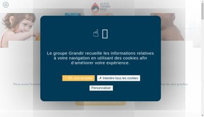 Site internet de Les Petits Chaperons Rouges