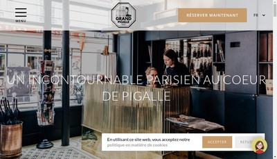 Site internet de Grand Pigalle Hotel