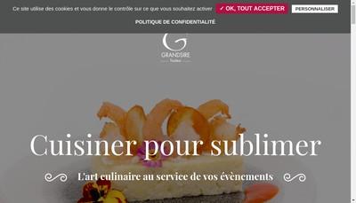 Site internet de Grandsire Traiteur