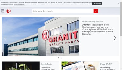 Site internet de Granit Parts Gestion