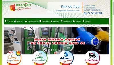 Site internet de Granjon Combustibles